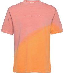 heavy organic cotton jersey tie-dye artwork tee t-shirts short-sleeved rosa scotch & soda