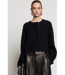 proenza schouler doubleface cashmere jacket black/off white 6