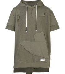 mostly heard rarely seen cut me up short sleeve hoodie - green