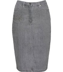 gonna di jeans con strass (grigio) - bpc selection