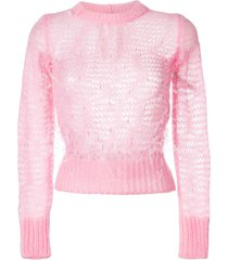 nº21 open knit feather sweater - pink