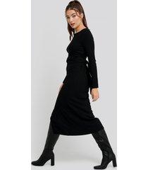 trendyol binding detailed ribana dress - black