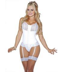 fajas mujer corset novia con ligueros