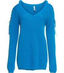 maglione con cut-out (blu) - rainbow