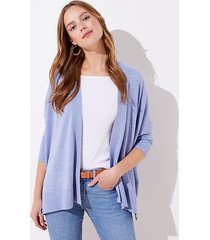 loft petite textured open poncho sweater