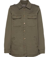cualba jacket overshirts groen culture