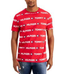 tommy hilfiger men's modern essentials logo-print sleep shirt