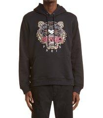men's kenzo men's tiger organic cotton hoodie, size small - black