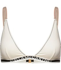 logo tape triangle bikinitop creme stella mccartney lingerie