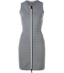 christopher kane zip-through bandage dress - grey