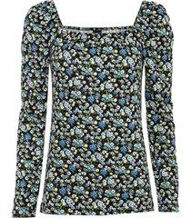 maglia a maniche lunghe con scollo quadrato (nero) - bodyflirt