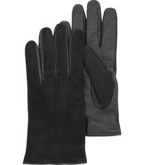 forzieri designer men's gloves, black touch screen leather men's gloves