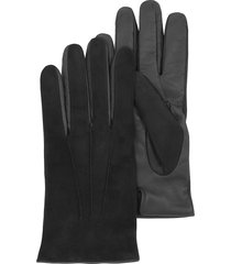 forzieri designer men's gloves, black touch screen leather men's gloves
