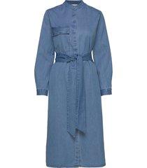 slfnora ls shirt dress w jurk knielengte blauw selected femme