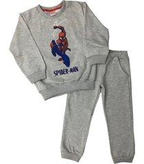 conjunto gris marvel spiderman joggins funny store