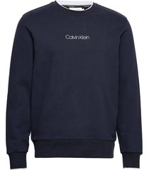 carbon brush logo sweatshirt sweat-shirt trui blauw calvin klein