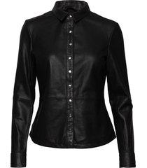 shirt w/buttons overhemd met lange mouwen zwart depeche