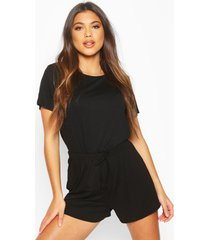 soft mix and match pyjama short, black