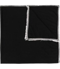 faliero sarti fine-knit cashmere scarf - black