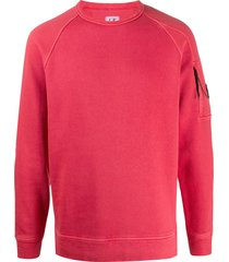 c.p. company raglan sleeve sweatshirt - red