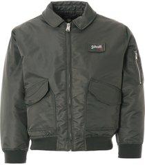 schott nyc bomber jacket - sage khaki - jktdanw-kak