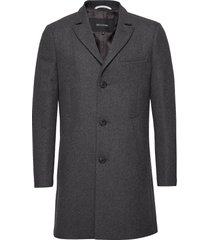 malto classic wool wollen jas lange jas grijs matinique