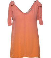 hera blouses short-sleeved orange rabens sal r