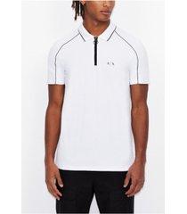 men's zipper logo polo shirt
