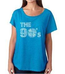 la pop art women's dolman cut word art shirt - 90's