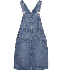 classic dungaree dress ntsmr korte jurk blauw tommy jeans