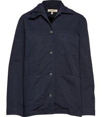 w alan shirt jacket zomerjas dunne jas blauw whyred
