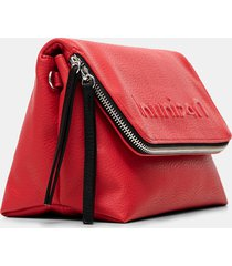 crossbody bag embossed logo - red - u