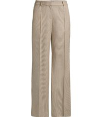 lafayette 148 new york women's winthrop micro check pants - melba multi - size 10