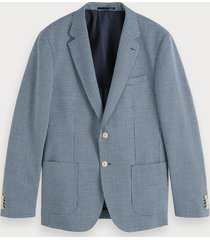 scotch & soda blazer met yarn-dyed patroon