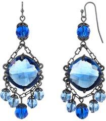 2028 black-tone chandelier wire drop earrings