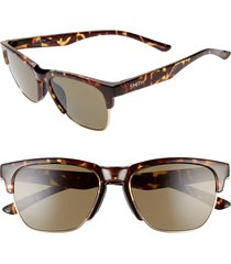 women's smith haywire 55mm chromapop(tm) polarized sunglasses - vintage tortoise/ gray green