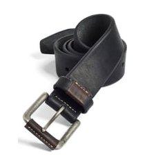 men's johnston & murphy leather belt, size 40 - black