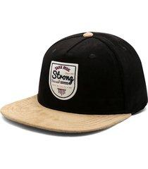 gorra negro-beige colore