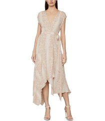 bcbgmaxazria snake-embossed wrap dress