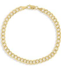 14k gold curb link bracelet/4.95mm