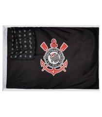 mochila bandeira corinthians escudo preta