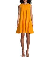 oscar de la renta women's virgin wool-blend a-line dress - amber - size 4