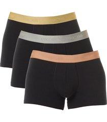 hom short sport body 3-pak zwart