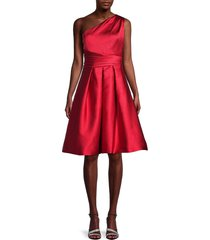 theia women's one-shoulder dress - red - size 8