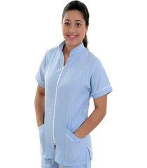 blusa medica santangel con cierre  / dd200 - azul claro