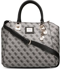 candace elite carryall bags top handle bags grijs guess