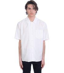 ami alexandre mattiussi shirt in white viscose