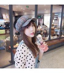 sombrero de algodón de rayas para mujer-gris