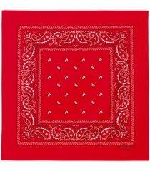 philosophy di lorenzo serafini red cotton bandana