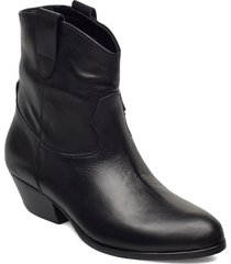 awa shoes boots ankle boots ankle boot - heel svart jennie-ellen